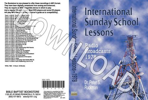 International Sunday School Lessons 1978 - Downloadable MP3