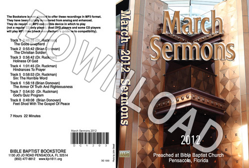 March 2012 Sermons - Downloadable MP3