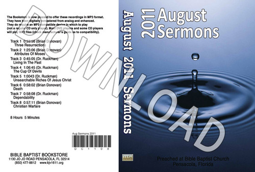 August 2011 Sermons - Downloadable MP3
