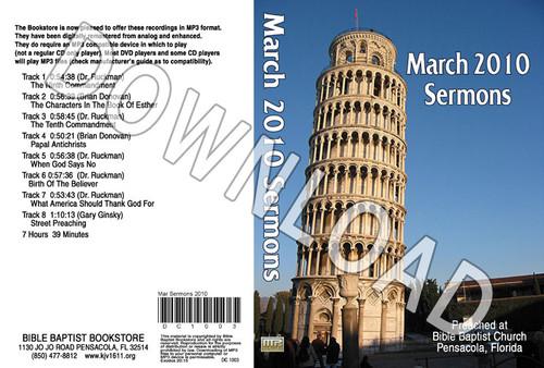 March 2010 Sermons - Downloadable MP3