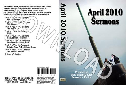 April 2010 Sermons - Downloadable MP3