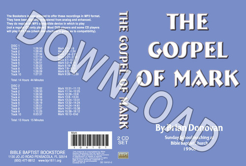 Brian Donovan: The Gospel of Mark - Downloadable MP3