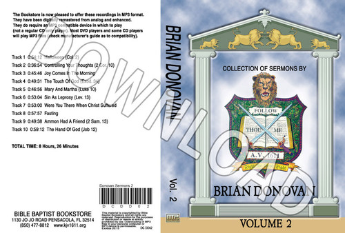 Brian Donovan: Sermons, Volume 2 - Downloadable MP3
