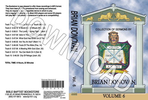 Brian Donovan: Sermons, Volume 6 - Downloadable MP3