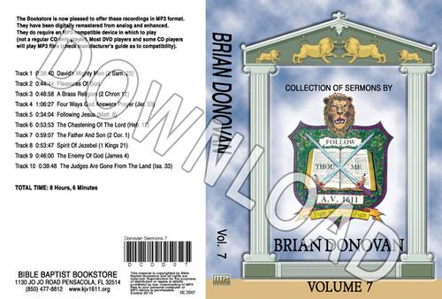 Brian Donovan: Sermons, Volume 7 - Downloadable MP3