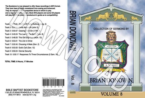 Brian Donovan: Sermons, Volume 8 - Downloadable MP3