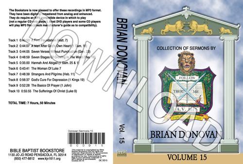 Brian Donovan: Sermons, Volume 15 - Downloadable MP3