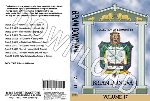 Brian Donovan: Sermons, Volume 17 - Downloadable MP3