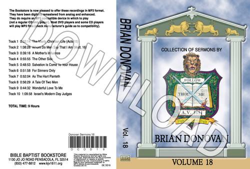 Brian Donovan: Sermons, Volume 18 - Downloadable MP3