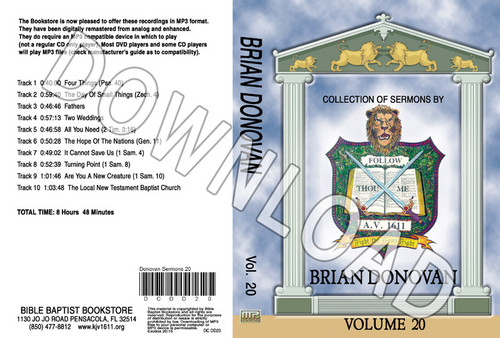 Brian Donovan: Sermons, Volume 20 - Downloadable MP3