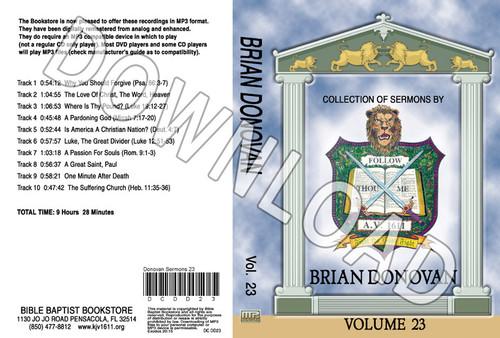 Brian Donovan: Sermons, Volume 23 - Downloadable MP3