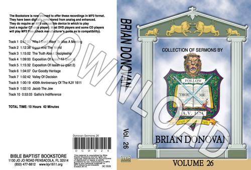 Brian Donovan: Sermons, Volume 26 - Downloadable MP3