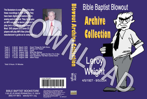 Leroy Wright: Bible Baptist Blowout Archive - Downloadable MP3