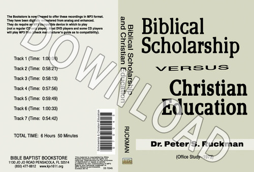 Biblical Scholarship - Downloadable MP3