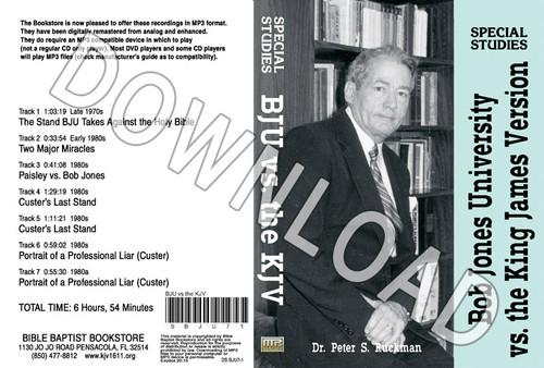 Bob Jones University vs. The Holy Bible KJV - Downloadable MP3