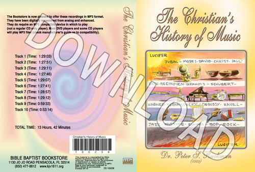 The Christian's History of Music - Downloadable MP3