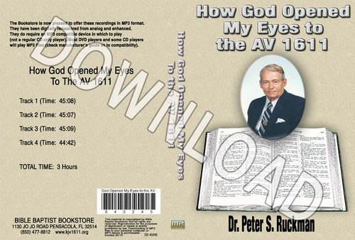 How God Opened My Eyes - Downloadable MP3