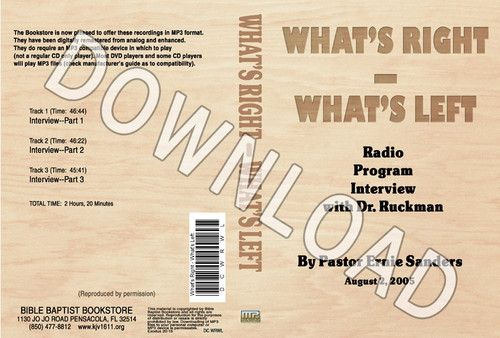 WRWL Radio Interview - Downloadable MP3