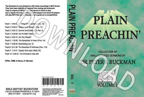 Plain Preachin' Volume 1 - Downloadable MP3