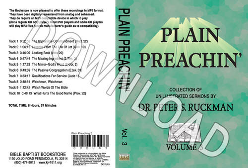 Plain Preachin' Volume 3 - Downloadable MP3