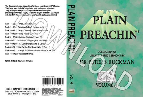 Plain Preachin' Volume 4 - Downloadable MP3