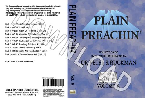 Plain Preachin' Volume 6 - Downloadable MP3