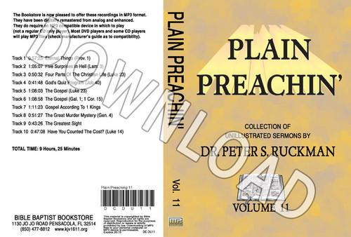 Plain Preachin' Volume 11 - Downloadable MP3
