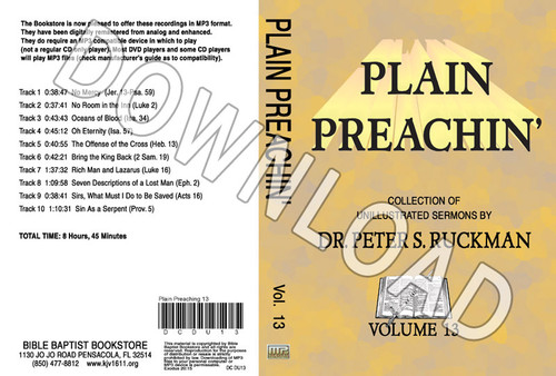 Plain Preachin' Volume 13 - Downloadable MP3