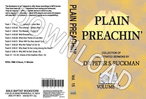 Plain Preachin' Volume 15 - Downloadable MP3