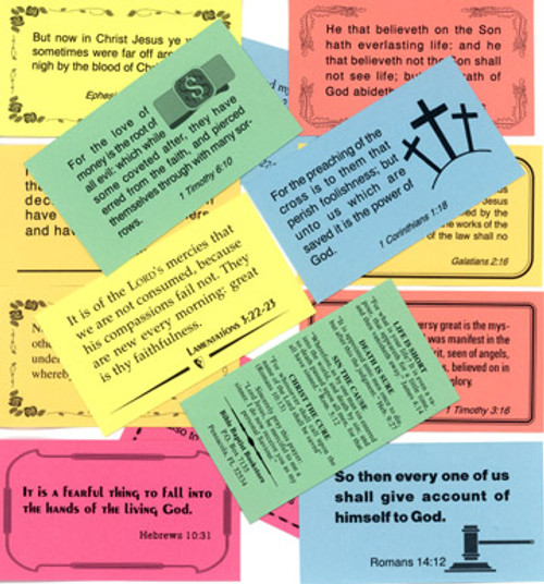 Set of 48 Scripture Business Cards - Tracts