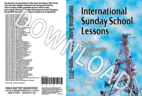 International Sunday School Lessons 2013 - Downloadable MP3
