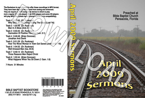 April 2009 Sermons - Downloadable MP3