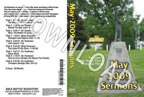 May 2009 Sermons - Downloadable MP3