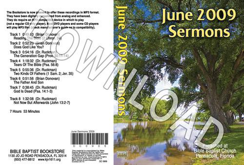 June 2009 Sermons - Downloadable MP3