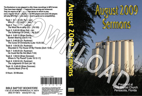 August 2009 Sermons - Downloadable MP3