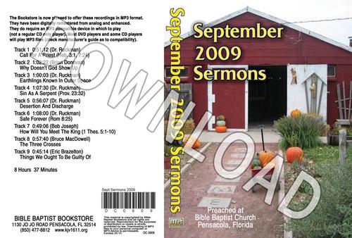 September 2009 Sermons - Downloadable MP3