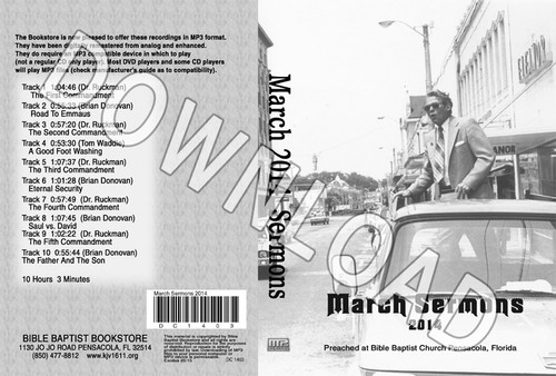 March 2014 Sermons - Downloadable MP3
