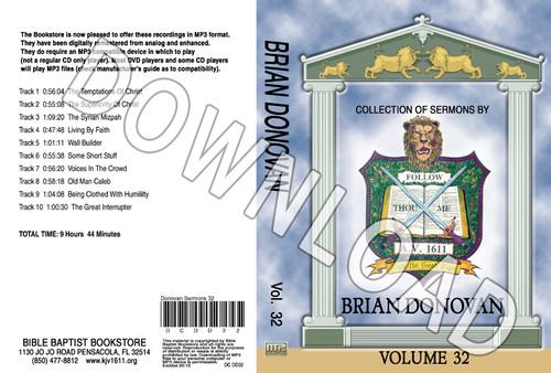 Brian Donovan: Sermons, Volume 32 - Downloadable MP3