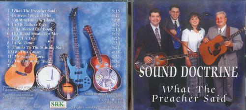 What the Preacher Said - Sound Doctrine CD