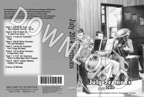 July 2014 Sermons - Downloadable MP3