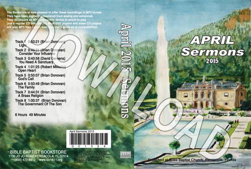 April 2015 Sermons - Downloadable MP3