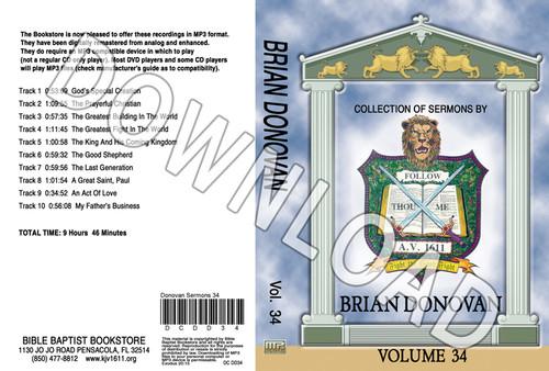 Brian Donovan: Sermons, Volume 34 - Downloadable MP3