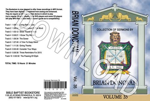 Brian Donovan: Sermons, Volume 35 - Downloadable MP3