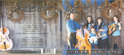 Lord, I'll Wait - Seminole String Band CD