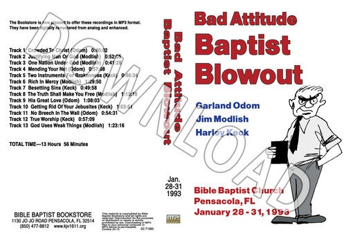 1993 January Blowout Sermons - Downloadable MP3