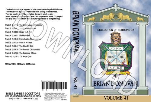 Brian Donovan: Sermons, Volume 41 - Downloadable MP3