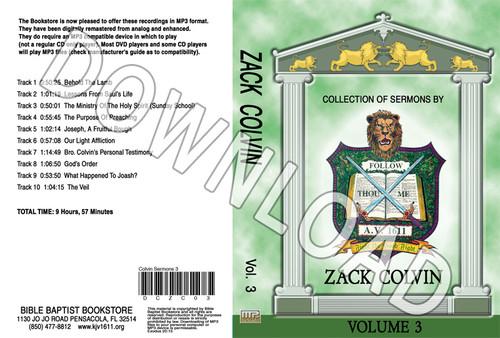 Zack Colvin: Sermons, Volume 3 - Downloadable MP3