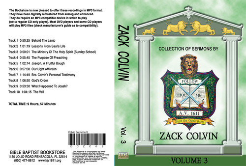 Zack Colvin Sermons on MP3 - Volume 3