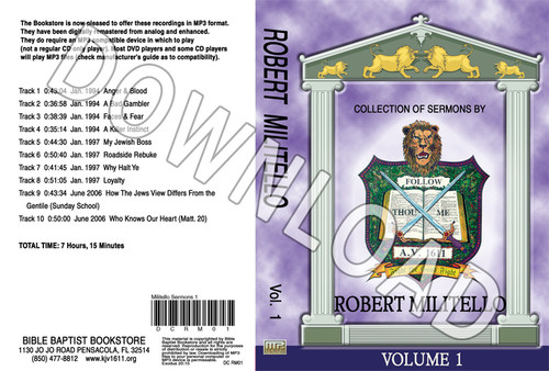 Robert Militello: Sermons, Volume 1 - Downloadable MP3