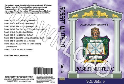 Robert Militello: Sermons, Volume 3 - Downloadable MP3